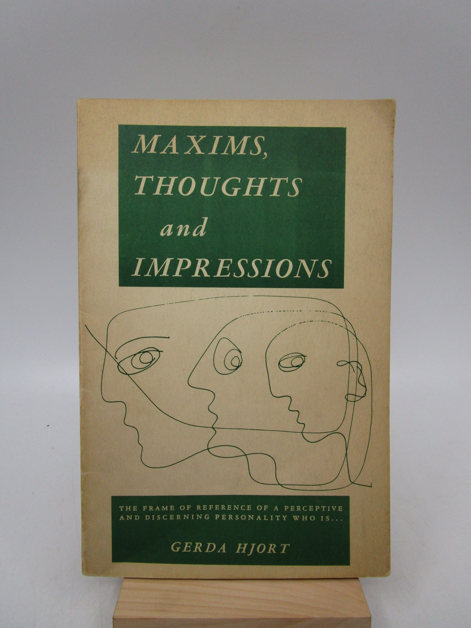 Image for Maxims, Thoughts and Impressions (First Edition)