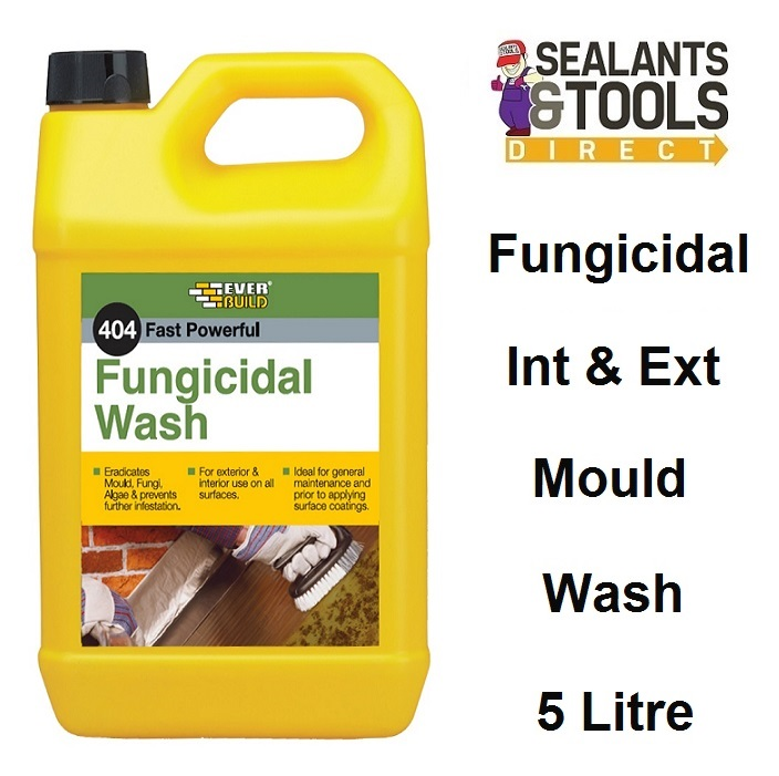 Everbuild 404 Fungicidal Wash Moss Mould Remover 5 Litre FUN5