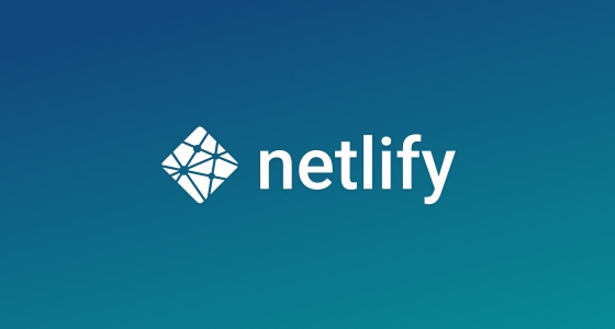 Netlify logo on a blue background