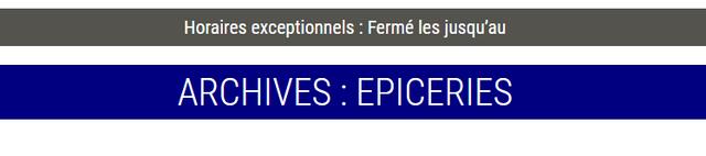 Epiceries