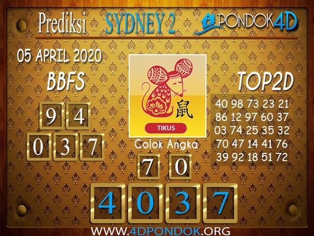 Prediksi Togel SYDNEY 2 PONDOK4D 05 APRIL 2020