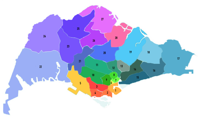 singapore-districts
