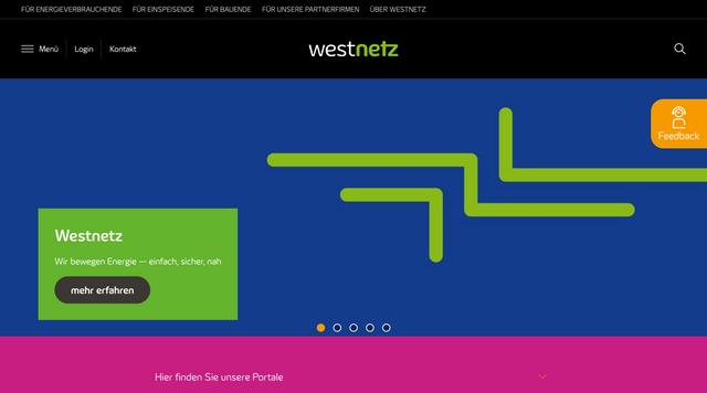 Webseite iam.westnetz.de