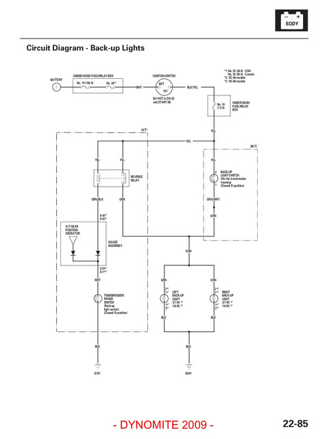 Acura Light Wiring Diagram