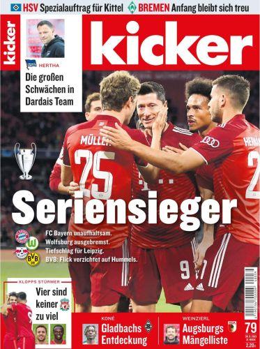 Cover: Kicker Sportmagazin No 79 vom 30  September 2021