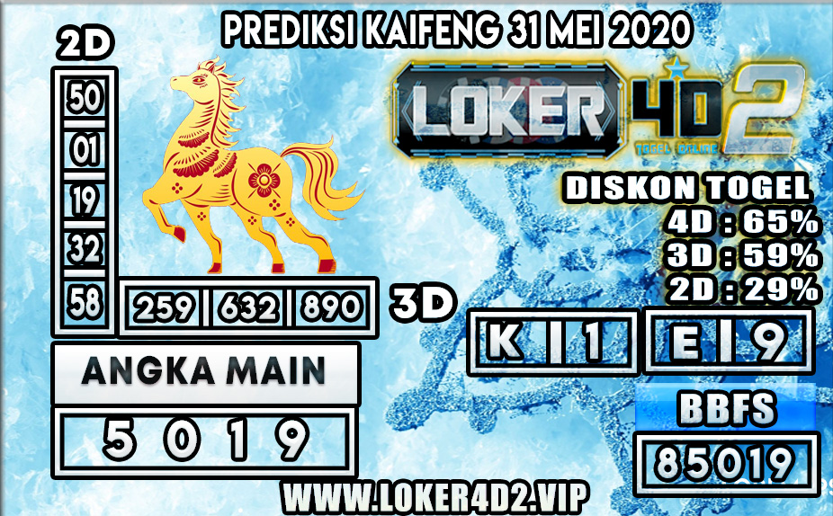 PREDIKSI TOGEL KAIFENG LOKER4D2 31 MEI 2020