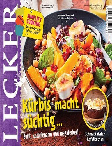 Cover: Lecker Kochmagazin No 10 Oktober 2021