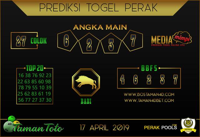 Prediksi Togel PERAK TAMAN TOTO 17 APRIL 2019