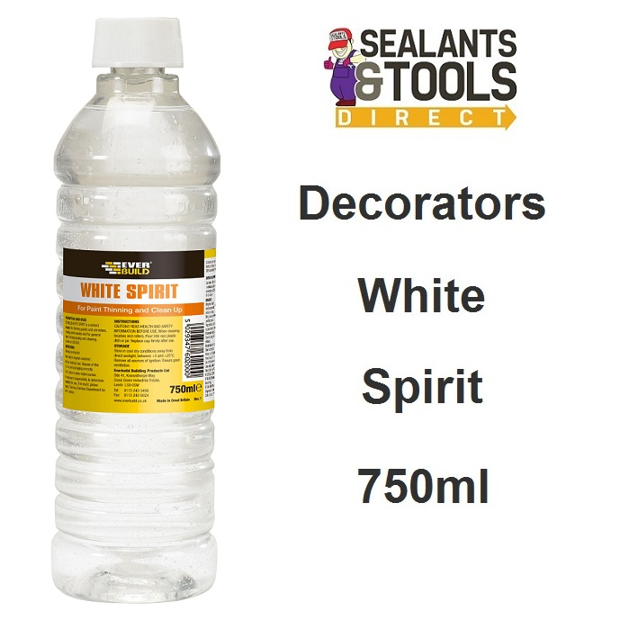 Everbuild Decorators White Spirit Paint Thinner 750ml WS7