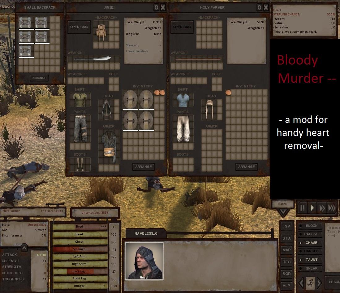 Bloody Murder-heart removal & kill move / Кровавое Убийство - вырезаемое сердце и анимированное убийство!