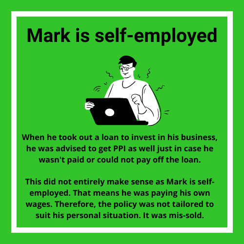 mark PPI pay-out example