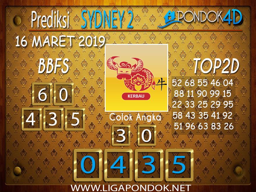 Prediksi Togel SYDNEY 2  PONDOK4D 16 MARET 2019