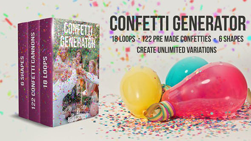 Confetti Generator Bundle 21668805 - Project for After Effects (Videohive)