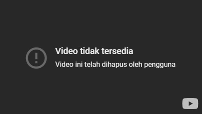 video yang sudah tak tersedia