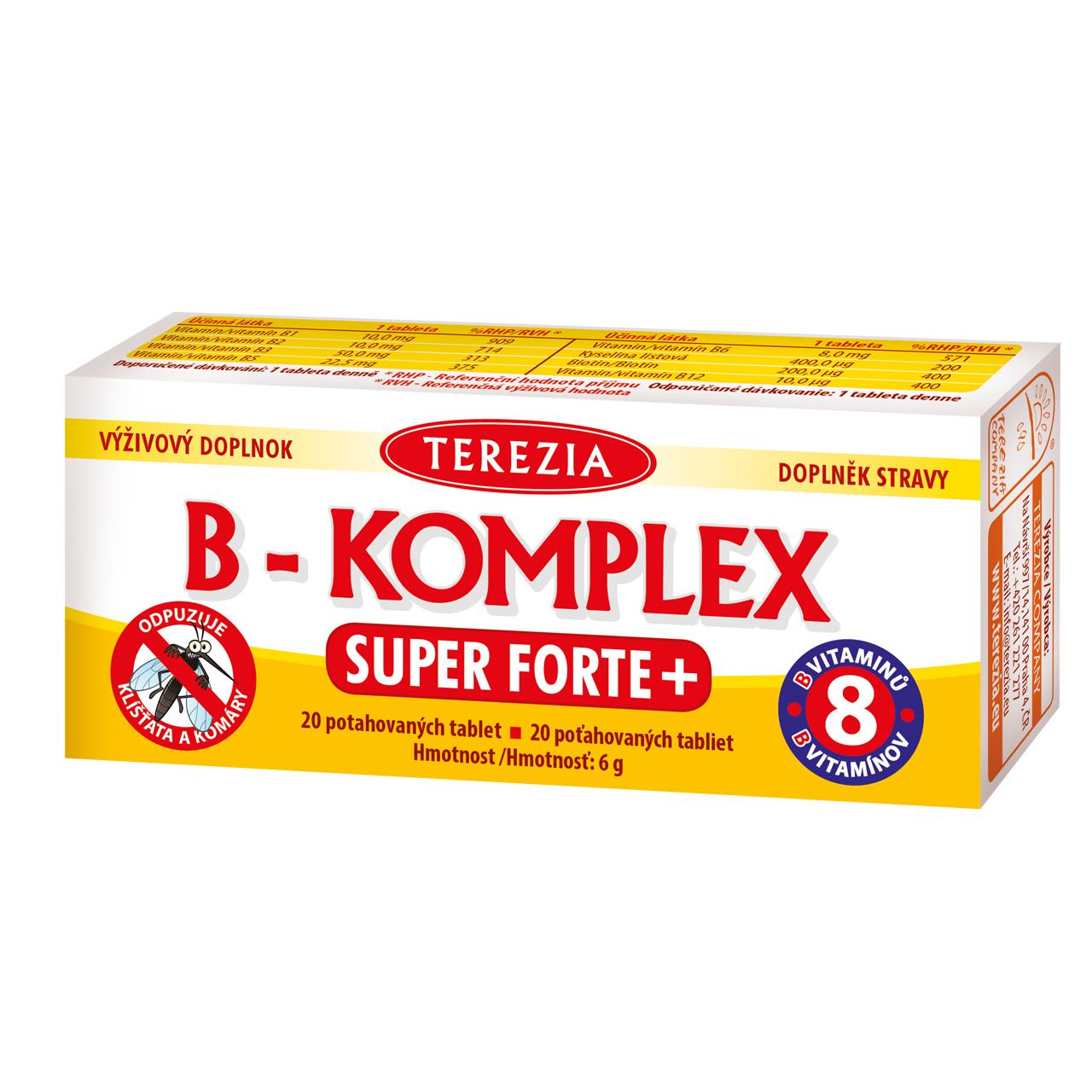 Levně B-KOMPLEX super forte+ 100 tablet