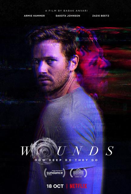 Смотреть Раны / Wounds Онлайн бесплатно - Бармен после драки в заведении находит потерянный посетителем телефон и зачем-то решает...