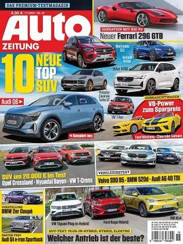 Cover: Auto Zeitung Magazine No 15 vom 07  Juli 2021