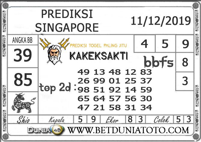 PREDIKSI TOGEL SINGAPORE DUNIA4D 11 DESEMBER 2019