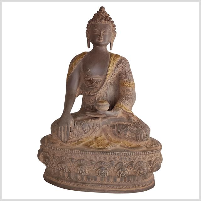 ME-Life-Buddha-33cm-Erdender-Buddha-rostbraun-vorne