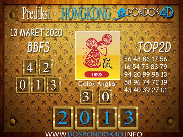 Prediksi Togel HONGKONG PONDOK4D 13 MARET 2020