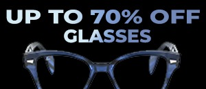70% off glasses