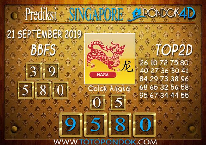 Prediksi Togel SINGAPORE PONDOK4D 21 SEPTEMBER 2019