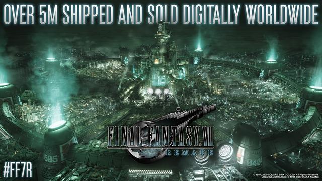 Square Enix宣佈《最終幻想 7 重製版》全球累計銷量突破500萬套 Image