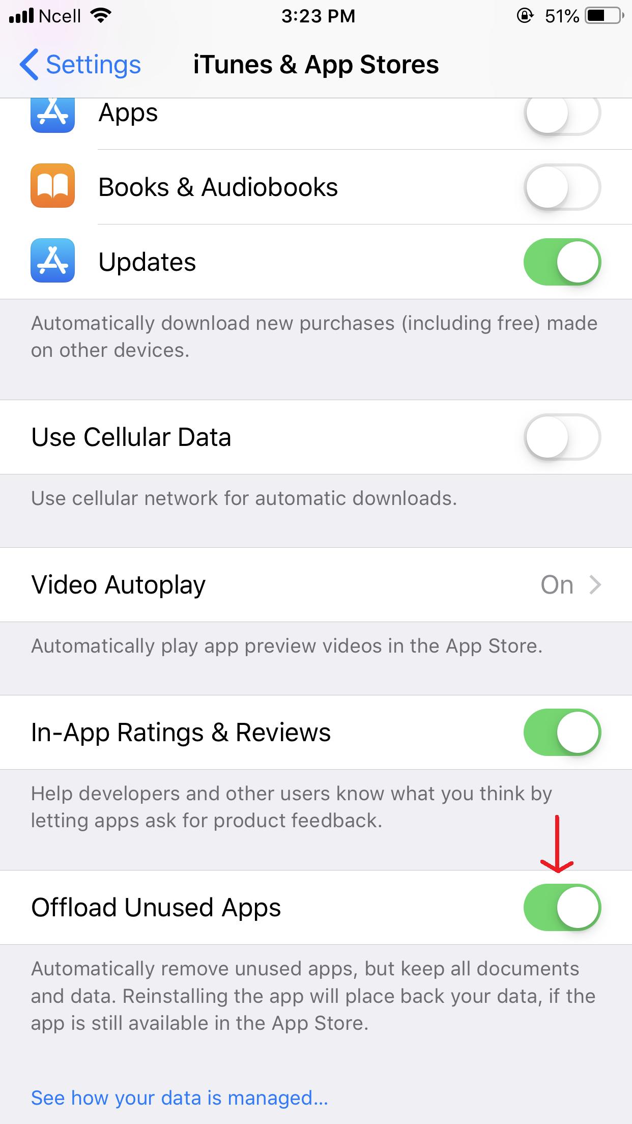 offload unused apps on ios