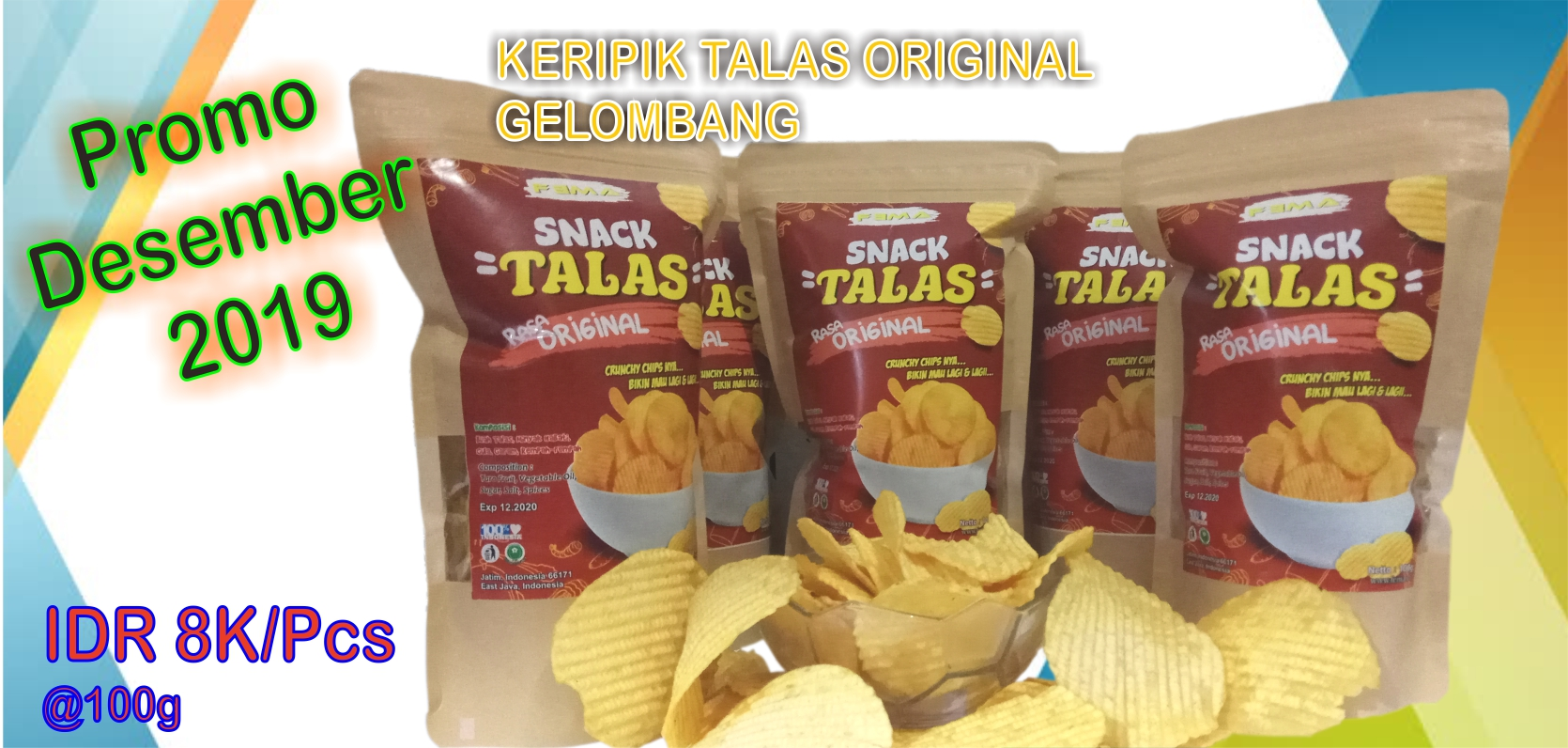Keripik Talas Original