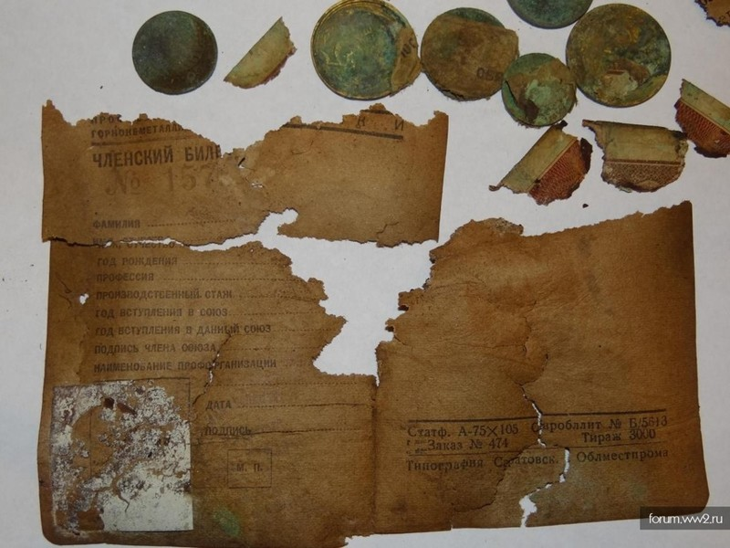 Personal belongings of Soviet soldiers found at the place of execution