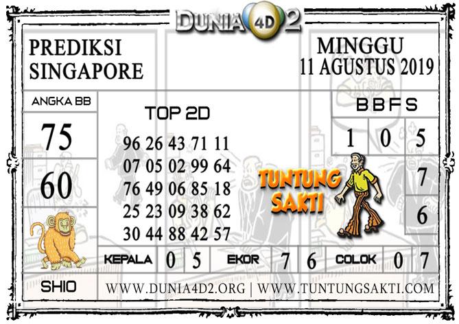 """Prediksi Togel """"SINGAPORE"""" DUNIA4D2 11 AGUSTUS 2019"""