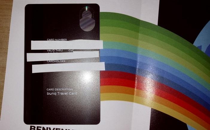 Bunq! 3 Bellissime carte +Bonifici Istantanei e 25 IBAN usa e getta INCLUSI + PROMO 10,00 € DI APERTURA Carta-Arrivata-Mia4