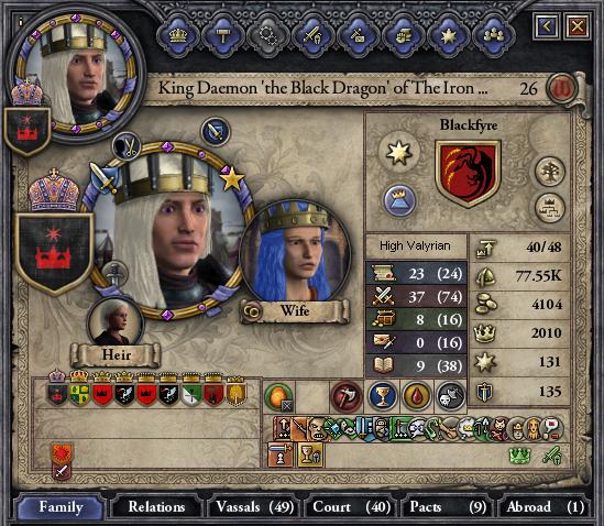 Daemon the Black Dragon, the new King.
