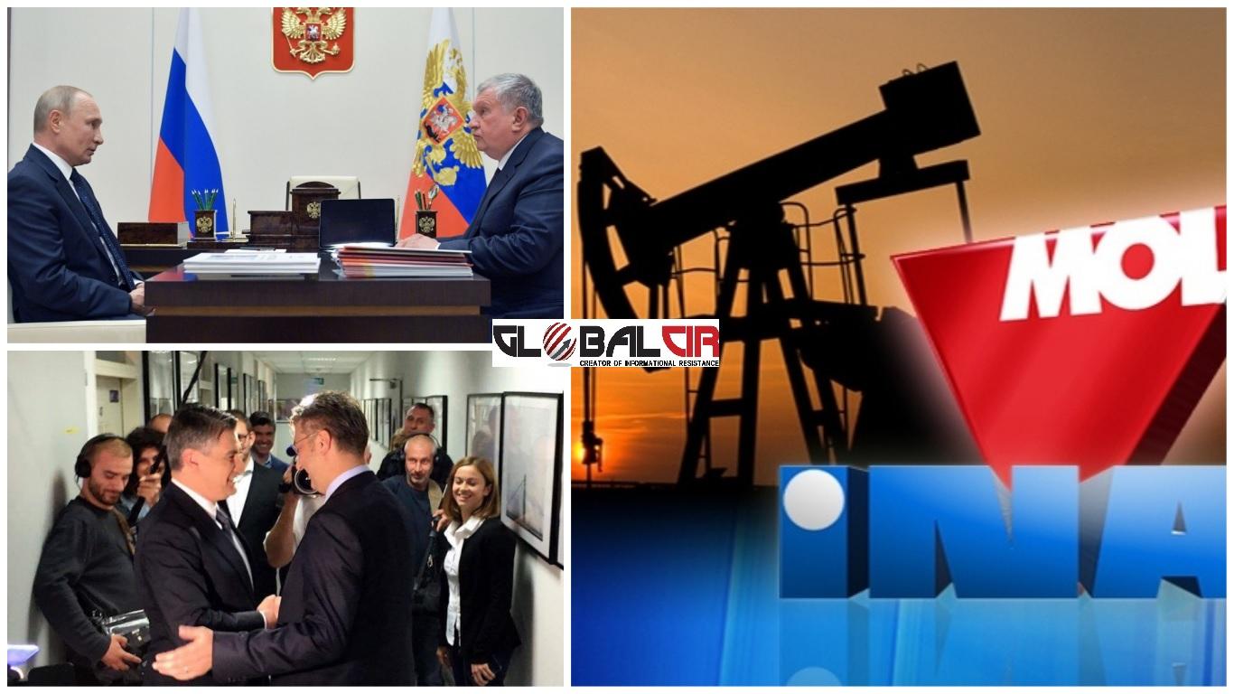 RAČUNAJU NA POMOĆ MILANOVIĆA? Hrvatski mediji pišu da Rosnjeft želi otkupiti dionice INA-e od MOL-a: Hoće li ruski kapital ući u većinski državnu hrvatsku kompaniju?!