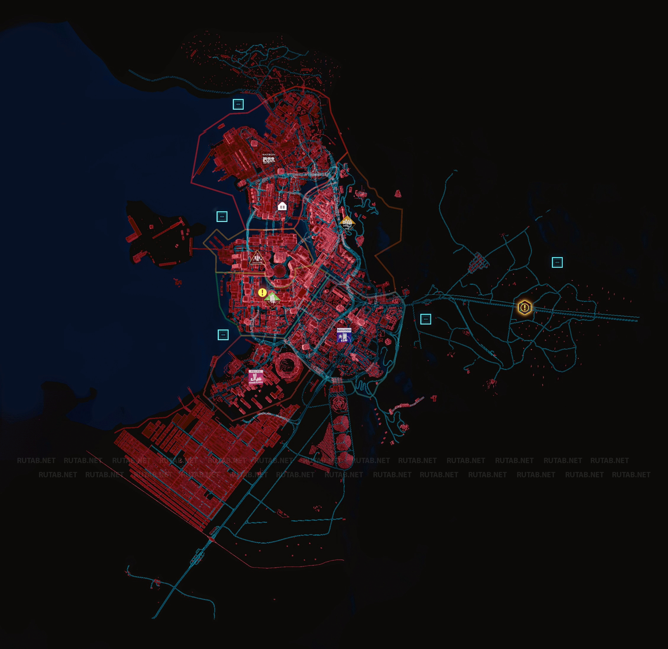 Cyberpunk 2077: Карта Найт-Сити