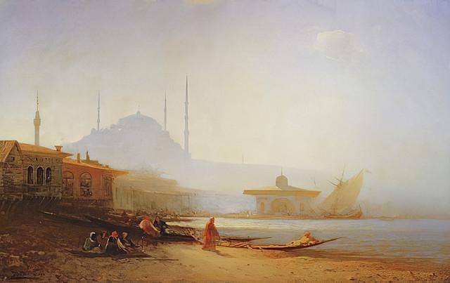 Flix-Ziem-View-of-Istanbul-1864-Meister-