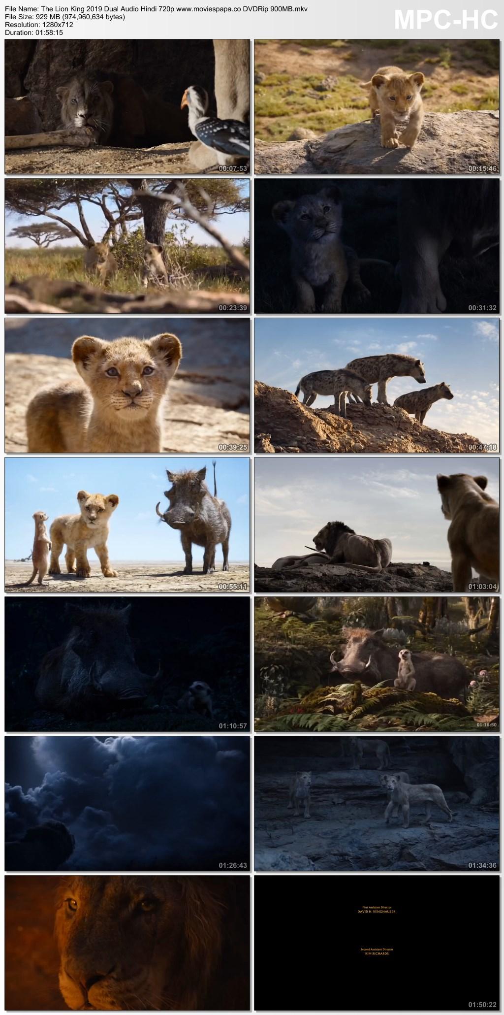 The Lion King 2019 Hindi Dual Audio 720p Dvdrip 1gb Download
