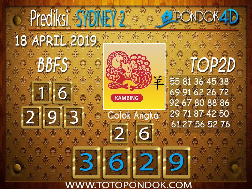 Prediksi Togel SYDNEY 2 PONDOK4D 18 APRIL 2019