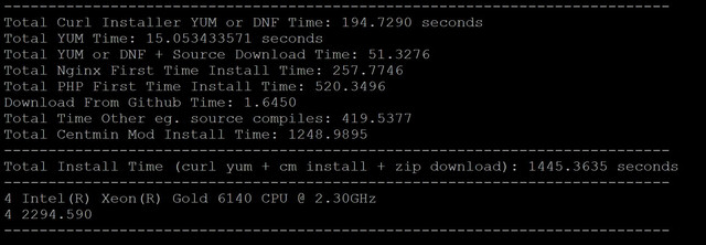 SSDNodes - SSDNodes 24GB NVME Benchmark   Centmin Mod Community