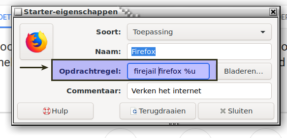 Starting Firefox with Firejail is as an administrator ???
