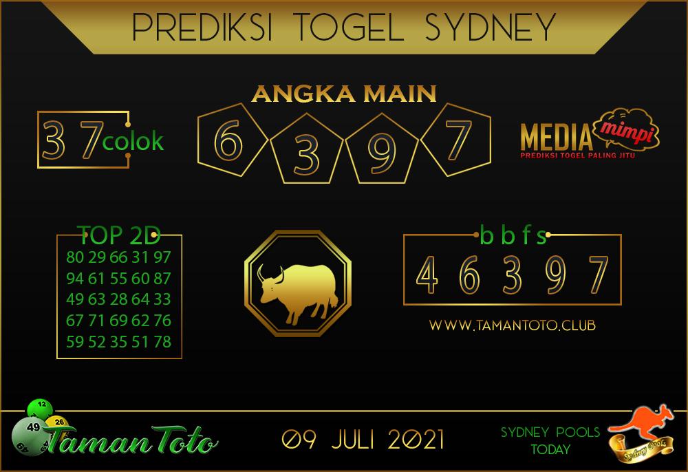 Prediksi Togel SYDNEY TAMAN TOTO 09 JULI 2021