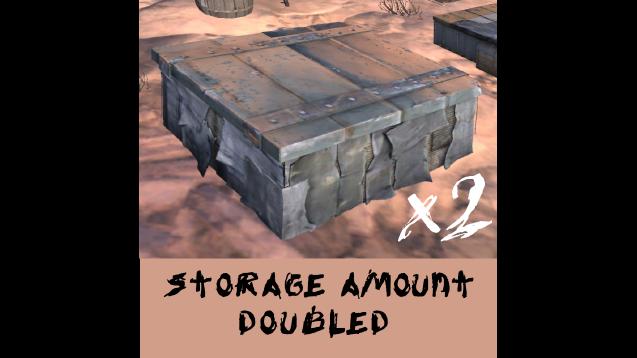 Storage Amount Doubled / Удвоенная вместимость хранилищ