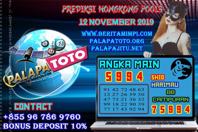 PREDIKSI TOGEL HONGKONG PALAPATOTO 12 NOVEMBER 2019