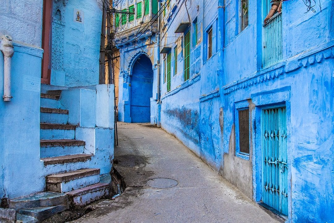 Streets painted in Blue