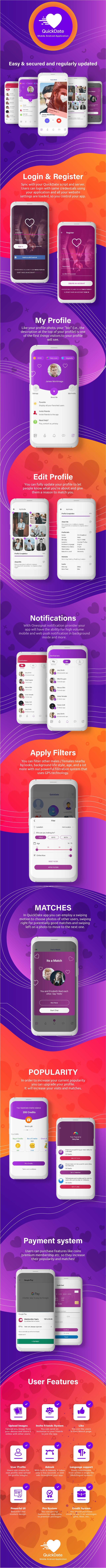 QuickDate Android - Aplicativo Mobile Social Dating Platform - 4