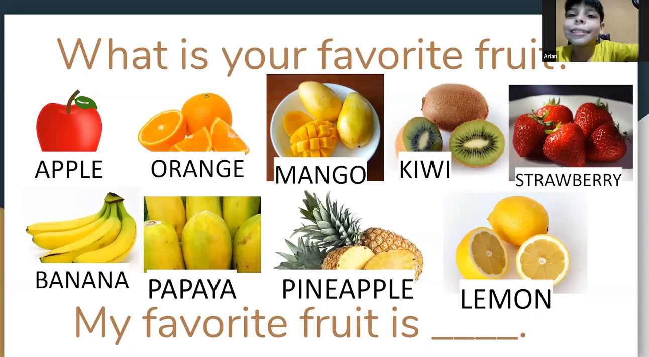 learning about fruits