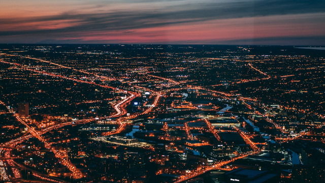 bird-s-eye-view-of-city-during-dawn-2093323