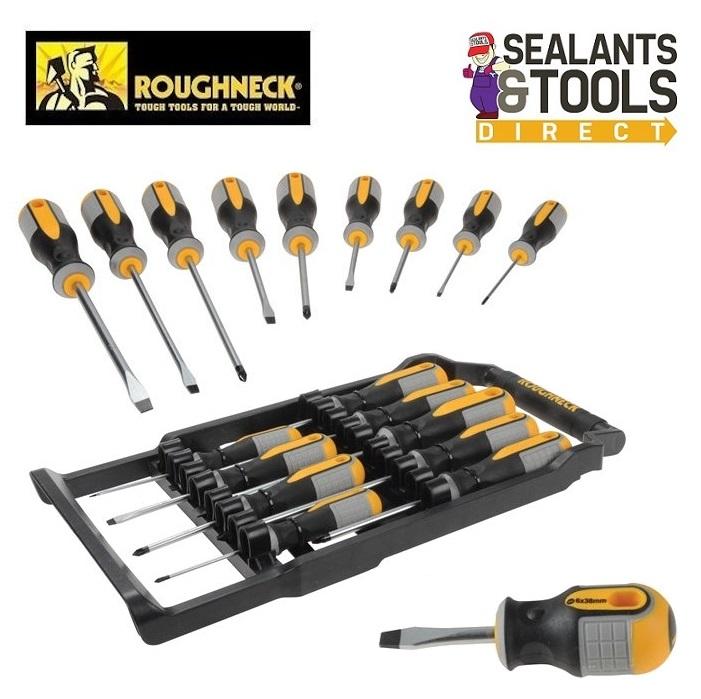 Roughneck-Set-Of-9-Screwdrivers-Professional-Contractors-ROU22199-22-199-plain