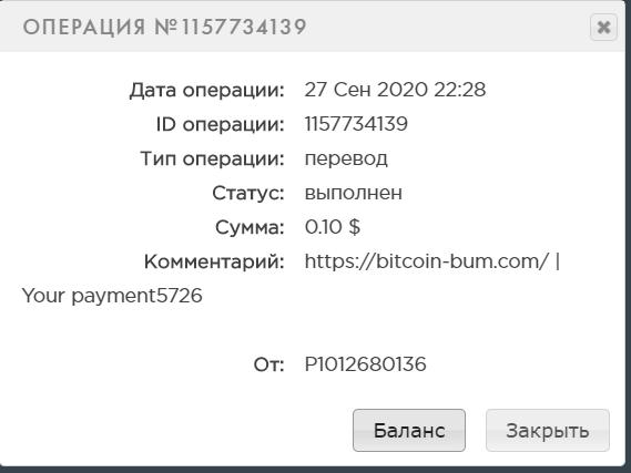 СКАМ Bitcoin Bum - криптоэкономическая игра с выводом денег Image