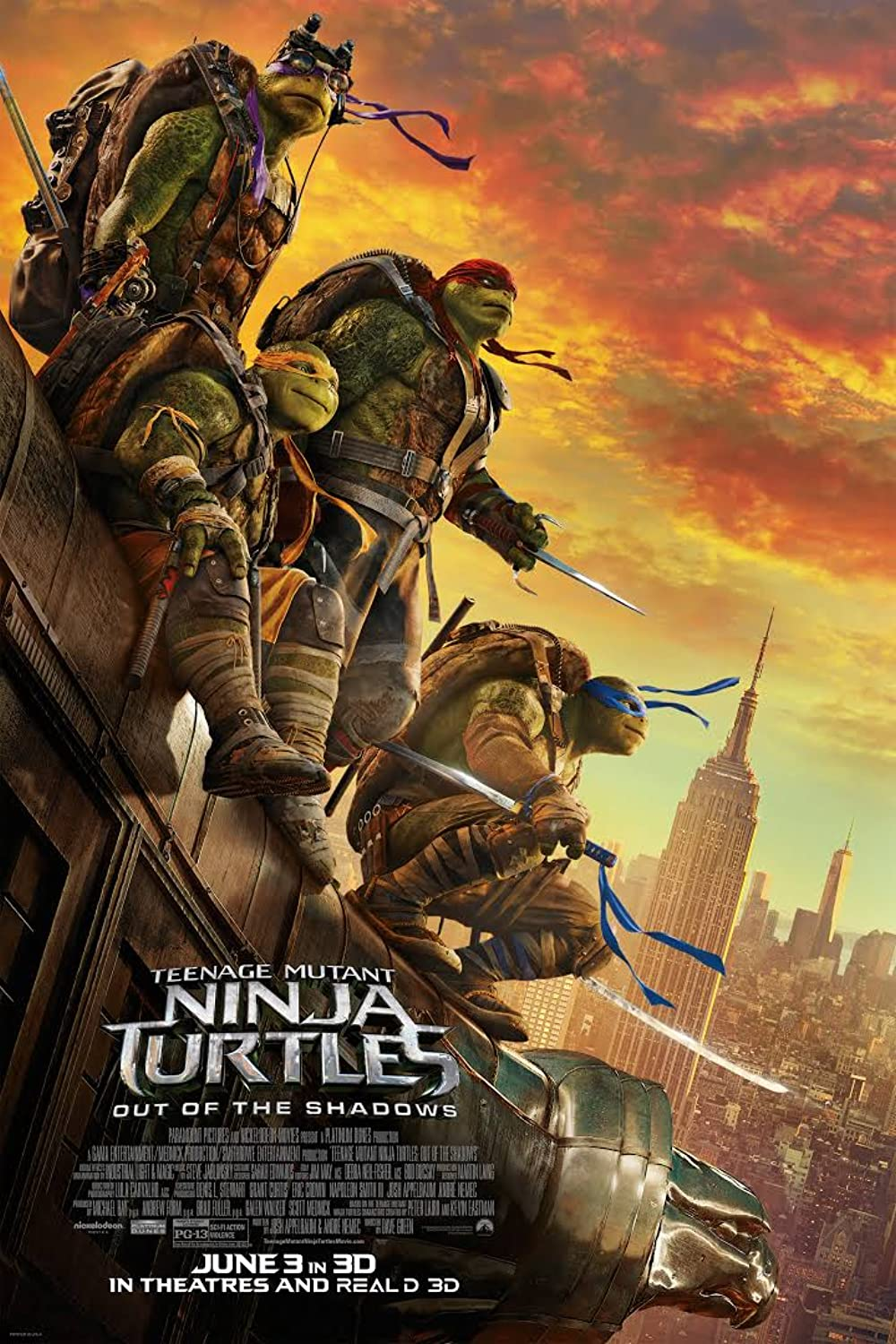 Teenage Mutant Ninja Turtles Out of the Shadows (2021) Hindi Dubbed HDRip 720p AAC